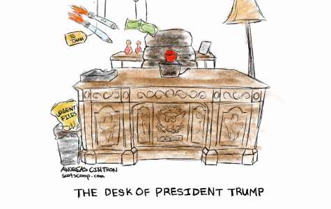 """Th Desk of President Trump"""