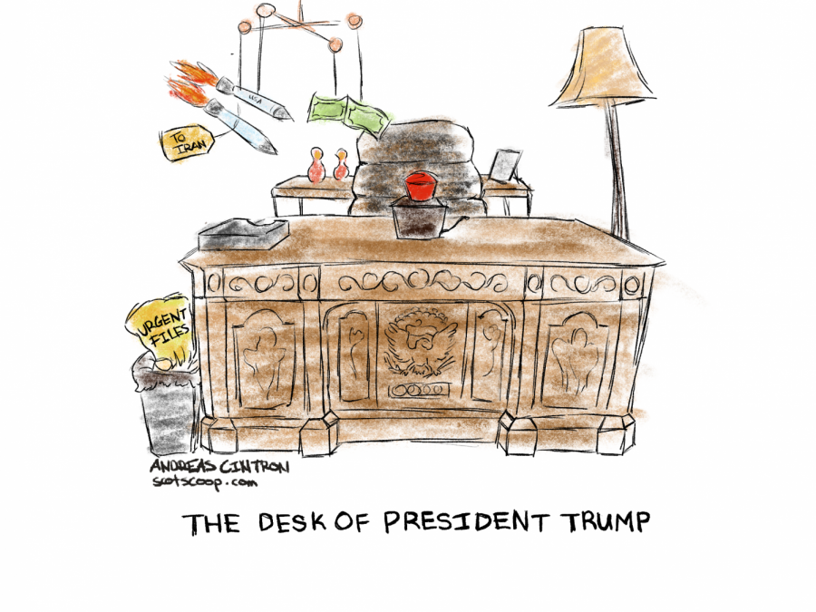 """Th Desk of President Trump"""