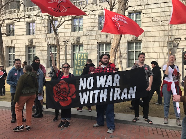 Anti-war+protesters+join+hundreds+of+others+in+the+streets+of+San+Francisco.++After+an+emergency+call+to+action+by+Bay+Area+activists%2C+over+300+people+showed+their+solidarity+with+the+Iranian+people.