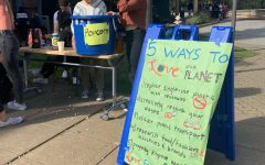 ASB advertises how students can incorporate environmentalism into their everyday lives.