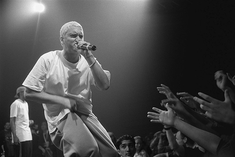 Eminem+performs+in+Munich%2C+Germany+on+Oct.+31%2C+1999.+After+many+years+in+the+rap+scene%2C+the+rapper+continues+his+success+with+his+newest+album%2C+%22Music+To+Be+Murdered+By.%22