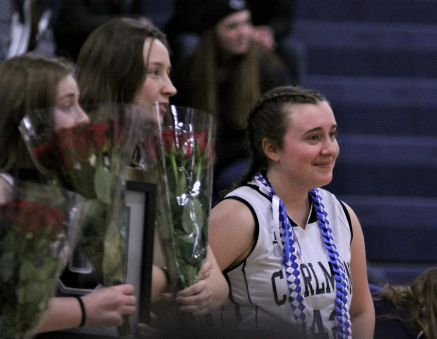 It+was+an+emotional+night+for+Carlmont+seniors%2C+many+of+whom+were+brought+to+tears+during+the+pregame+ceremony.
