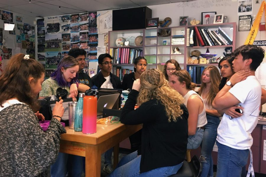 "ASB seniors met to brainstorm ideas for their senior class t-shirt designs. ""I feel passionate about exploring the design, because I love art and fashion and it's a good way to combine that."" said Isabella Mattioli, a senior in ASB."