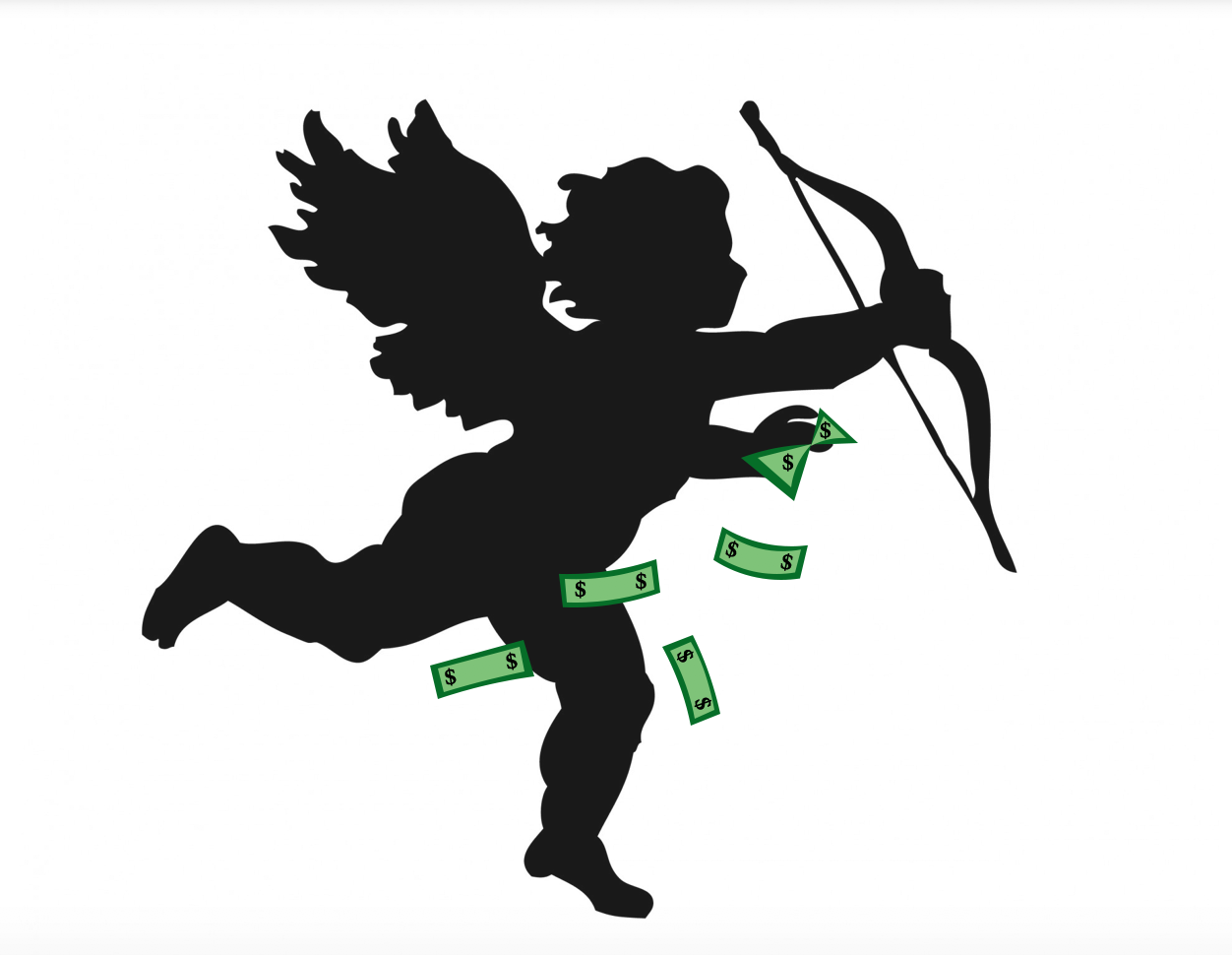 Instead of shooting out love and arrows, cupid is flying off with your money this Valentine's Day.