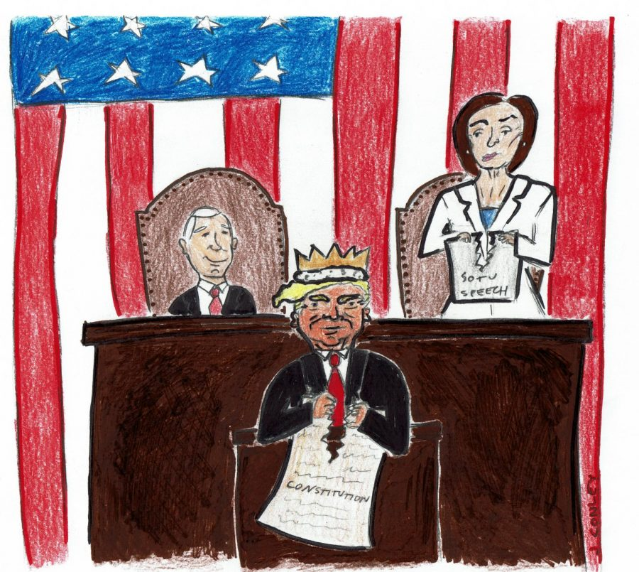 The quality of Trump's speech was on par with the quality of this cartoon.