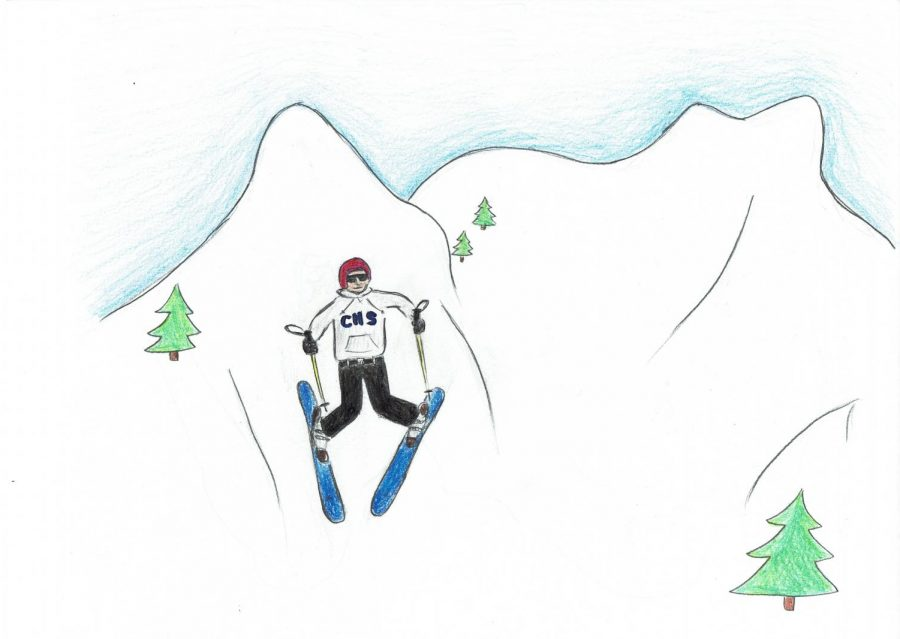Cartoon: Skiing Scots