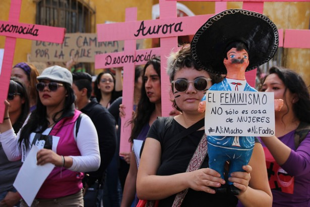 Women+march+in+unity+against+abuse+and+femicide+in+Puebla%2C+Mexico.