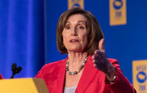 Nancy Pelosi speaking in Washington, D.C. at the annual Legislative Conference.