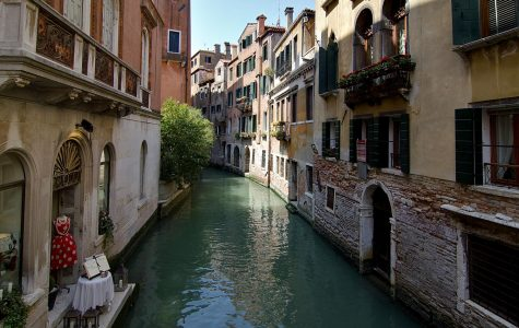 Venice water canals begin to clear, as boat traffic has come to a halt.