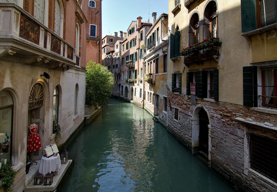 Venice+water+canals+begin+to+clear%2C+as+boat+traffic+has+come+to+a+halt.+