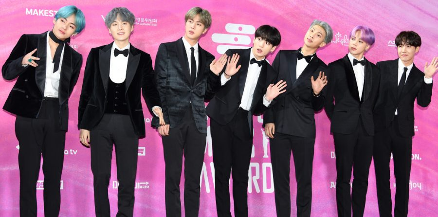BTS attends the Seoul Music Awards, where they won Record of the Year for their