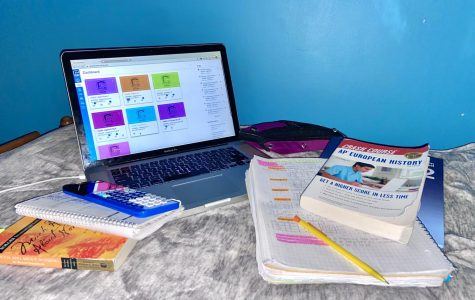 Many students plan out their work by checking Canvas and writing a schedule in their planners.