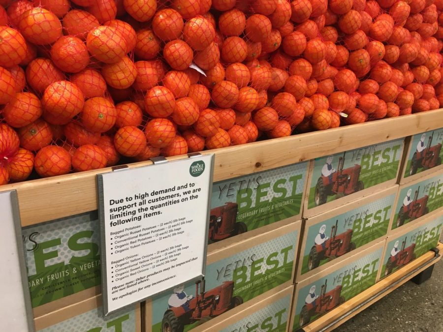 As cases of COVID-19 continue to increase worldwide, Whole Foods Market restricts the quantity of certain products that customers can purchase.