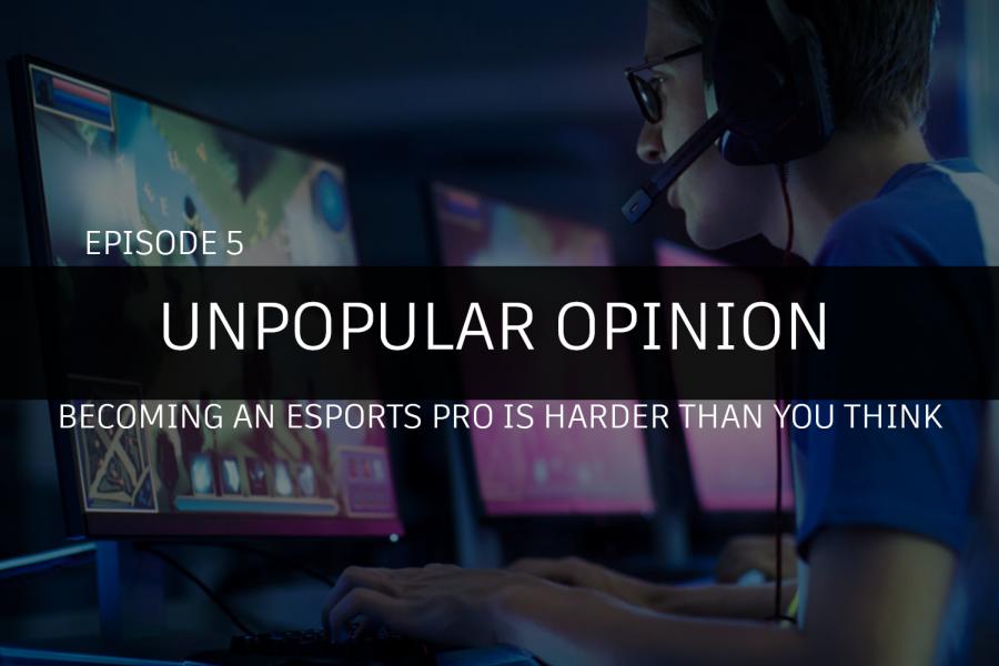 Esports pros play during a LAN tournament.