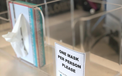 Local doctors' offices encourage patients with any cold-like symptoms to wear masks.