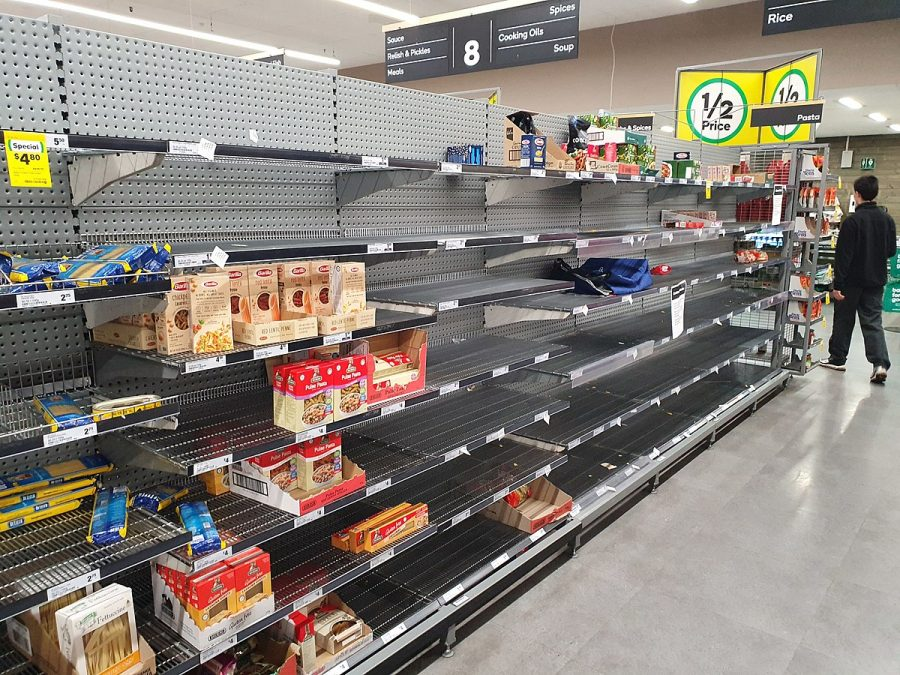 Panic-buying+leaves+shelves+empty%2C+causing+grocery+chains+such+as+Safeway+to+reserve+hours+for+groups+most+at+risk+from+COVID-19.