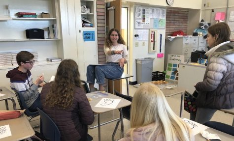 The Climate Change Club gathers to discuss the details of how to raise awareness about the Earth Day climate strike.
