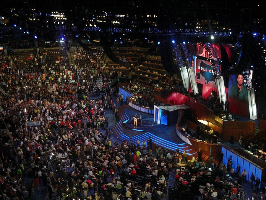 Roll call of the states during the third day of the 2008 Democratic National Convention in Denver, Colorado.