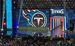 The Tennessee Titans make their selection as fans await the announcement in the first round of the 2016 NFL Draft. Due to the outbreak of COVID-19, the 2020 draft will be held virtually to keep people safe and healthy.