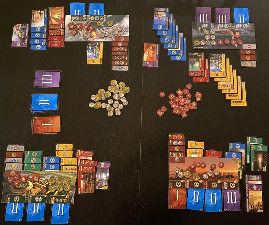 7 Wonders has exceptional component quality and beautiful artwork.