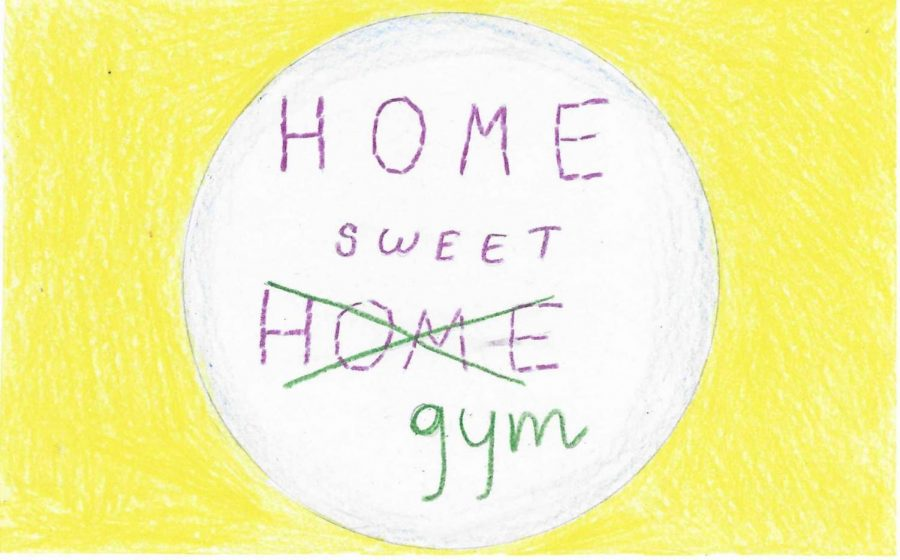 Athletes must get creative and find ways to exercise at home.