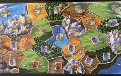 Small World challenges player to dominate a world that's too small for everyone.  This is the board after a close 2-player game.