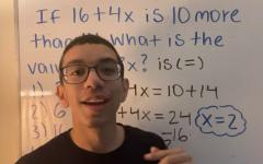 Alexandra Mae Jones Alexis Loveraz teaches math using his whiteboard to students using Tik Tok.
