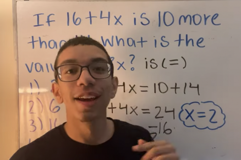 Alexandra Mae Jones Alexis Loveraz teaches math using his whiteboard to students using Tik Tok.