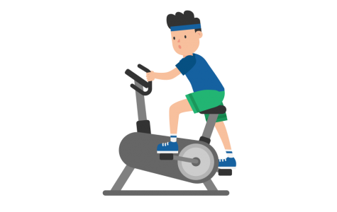 Working out at home is a great way to expel energy.