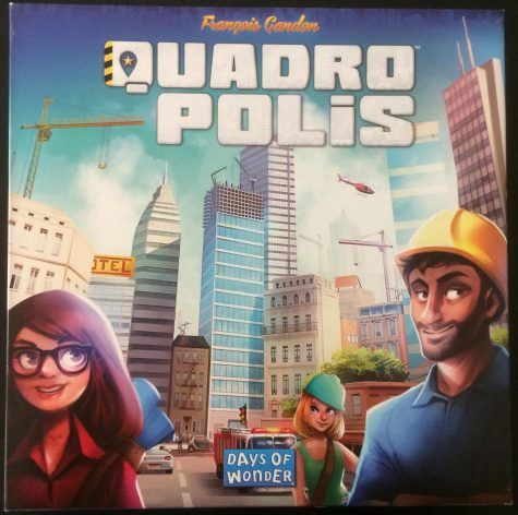 The box cover for Quadropolis is just one example of the great artwork in the game. This is a standard that Days of Wonder strives to hit in all of their games.