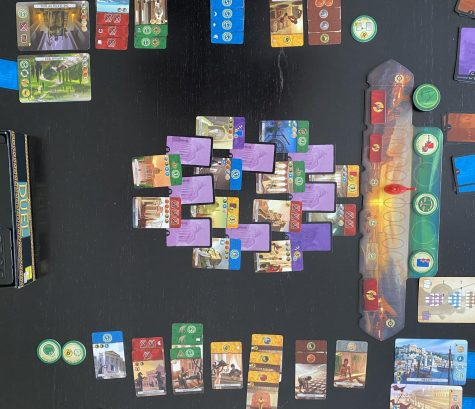 7 Wonders Duel is played over three ages.  This is the game at the start of the third age.