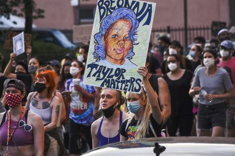 Protesters demand justice for Breonna Taylor in the streets of Brooklyn, New York.