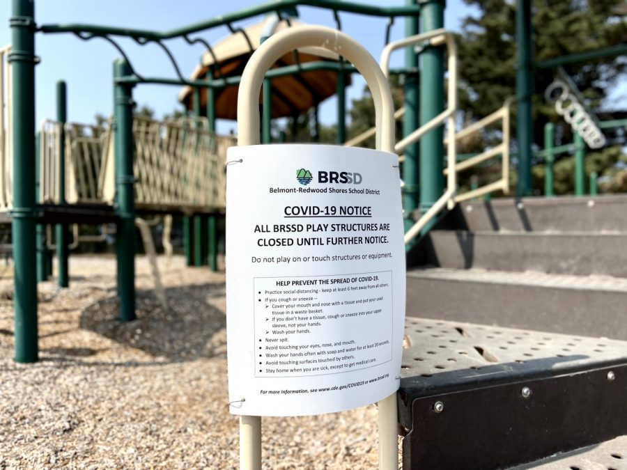With remote learning in action, playgrounds at Fox elementary are also temporarily closed.