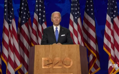 Joe Biden gives a speech on the last night of the Democratic National Convention, proudly accepting his presidential nomination.