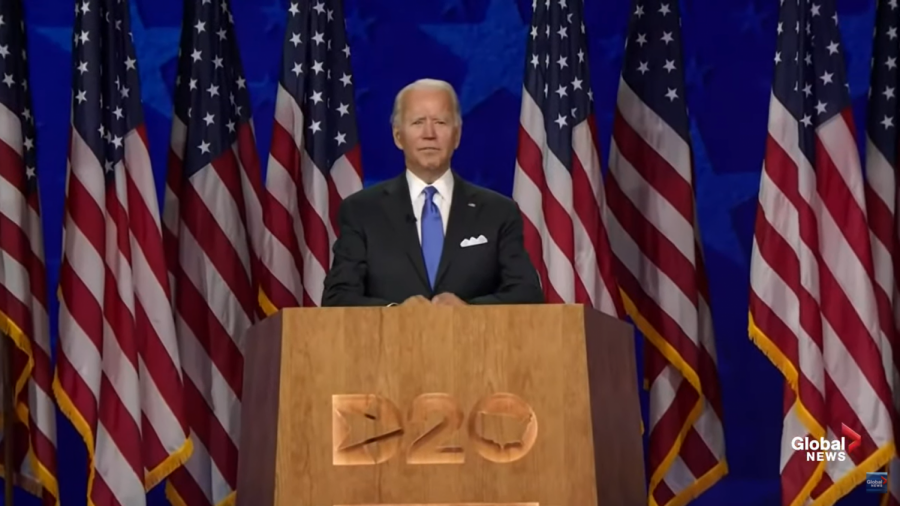 Joe+Biden+gives+a+speech+on+the+last+night+of+the+Democratic+National+Convention%2C+proudly+accepting+his+presidential+nomination.+