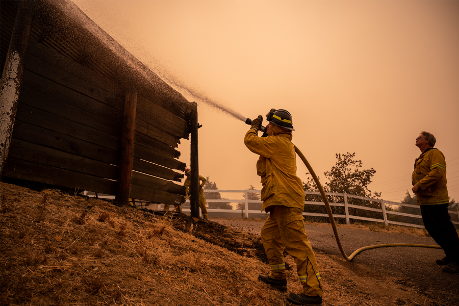 Firefighters overcome heated adversity of wildfires