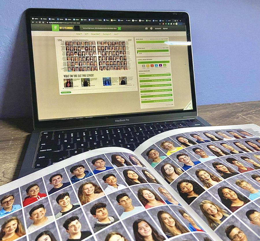 The yearbook is designed online, but this year it also involves online communication.