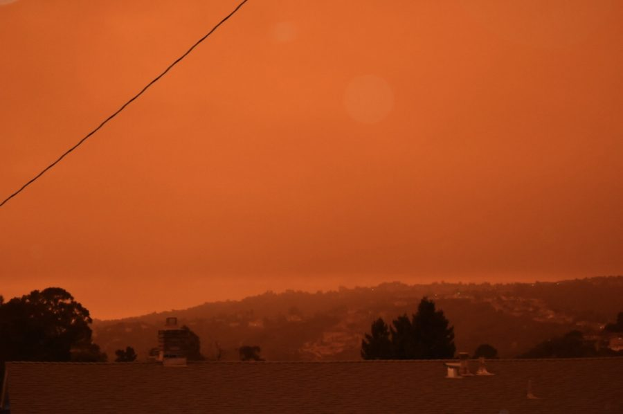 As a result of smoke from an abundance of fires in Northern California, Oregon, and Washington blowing into the Bay Area, the sky appeared a bright orange on Sept. 9.