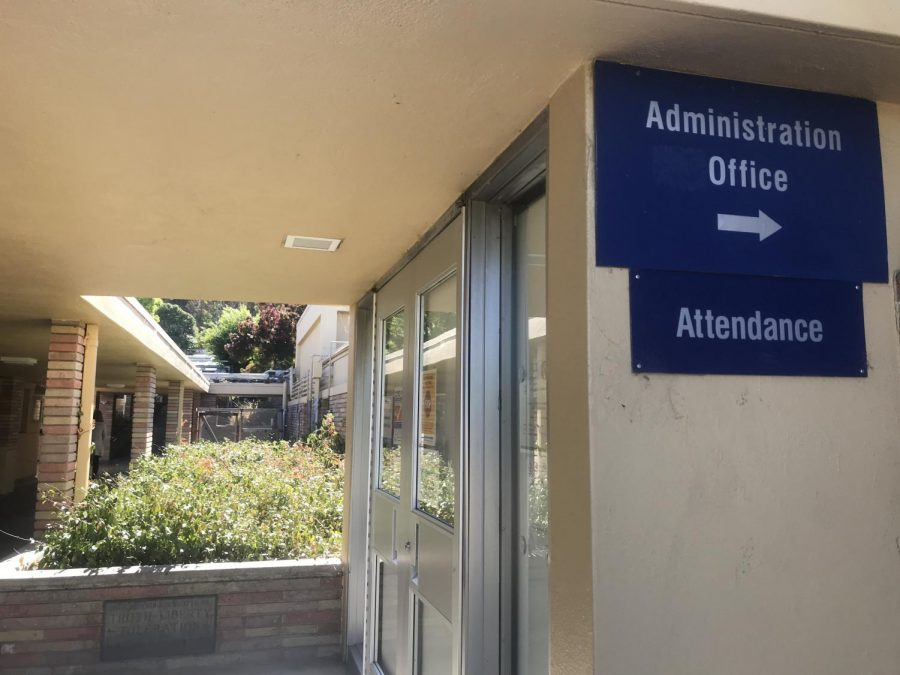Inside the administration office, the administrative vice principals (AVPs) have been intermittently coming to campus to work while following safety protocols.