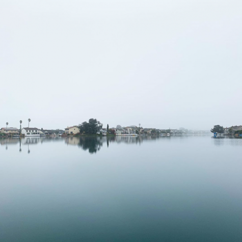 Fog fills the Foster City skyline on an early October morning.