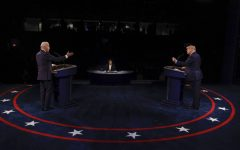 President Donald Trump and Democratic presidential nominee Joe Biden participate in the final presidential debate at Belmont University on October 22, 2020 in Nashville, Tennessee. This was the last debate between the two candidates before the November 3 election.
