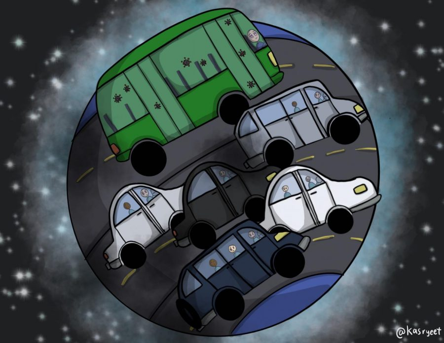 As people move away from public transportation during the COVID-19 pandemic, they rely more on driving individual cars. In turn, this contributes to the increasing amount of carbon emissions plaguing our atmosphere.