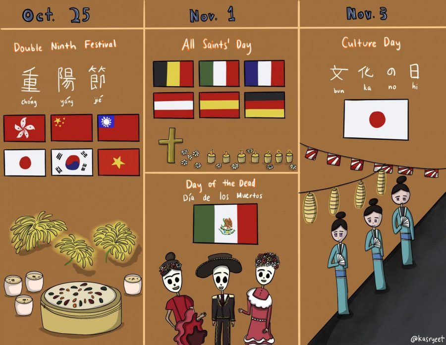 It's Halloween season in the U.S., but during this time, countries around the world celebrate many other holidays.