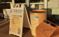 Aiming for contactless donations, San Carlos YAC had set up boxes for donation drop off.