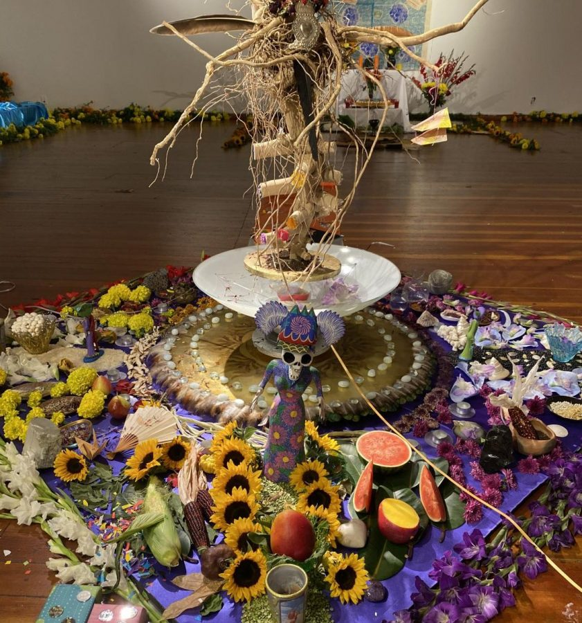 The altar of love is displayed at the Marigold Project's online, live broadcast.