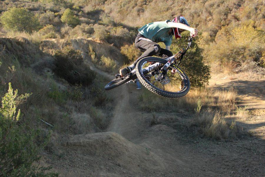 Local rider Luke Schorno gets sideways on the