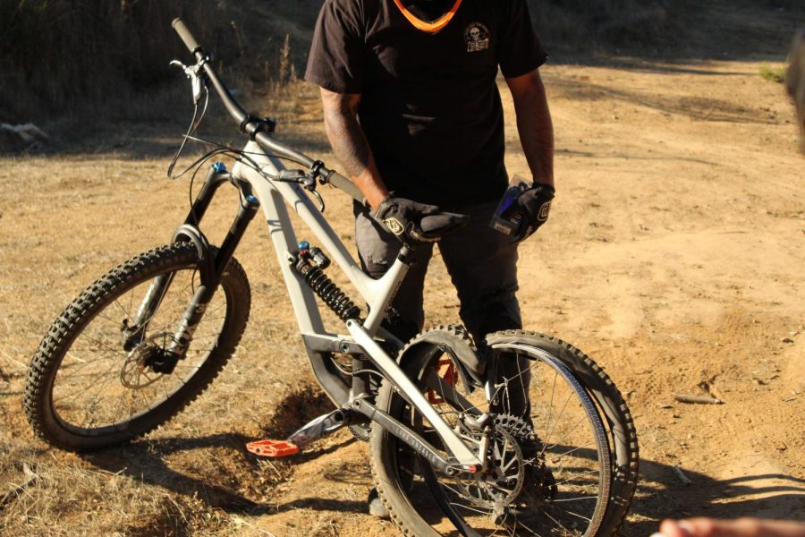 Triple J is not for the faint of heart, as this rider completely destroyed his rim by coming up short.