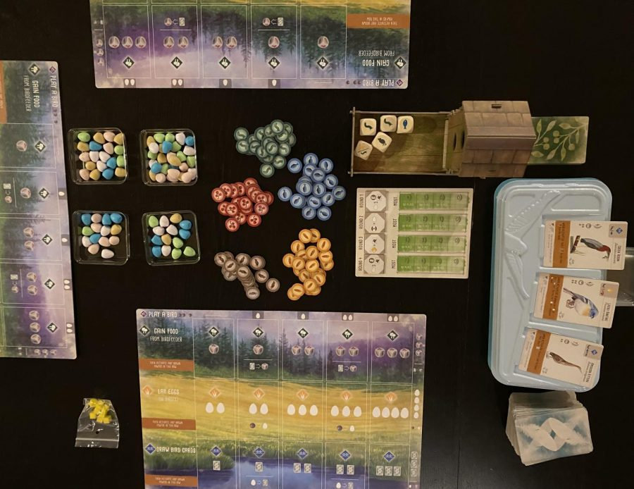 Wingspan is an engine-building game about collecting birds and putting them in different habitats. 1-5 players can play the medium-weight game in 40-70 minutes.
