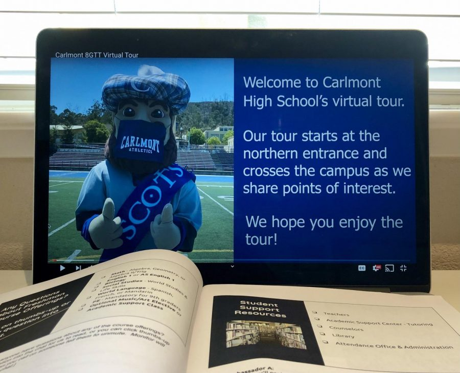To help eight-graders see the campus, the Eighth Grade Transition Team and Student Ambassadors created a virtual video tour of Carlmont.