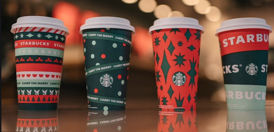Starbucks brings out their seasonal flavors in time for the holidays.